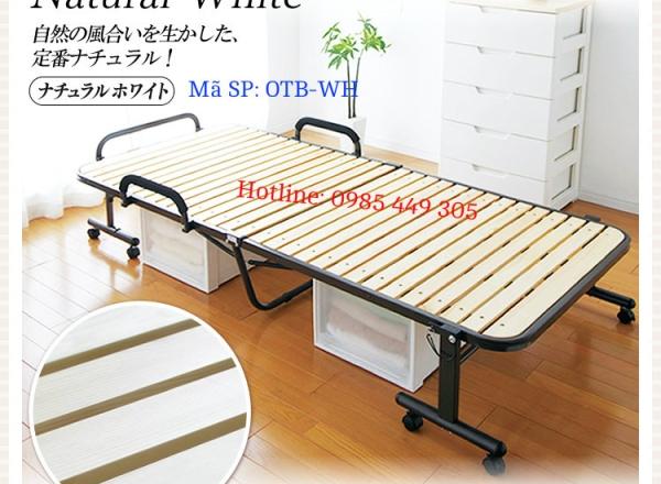 Giường gấp nan gỗ Nhật Bản (OTB-WH)